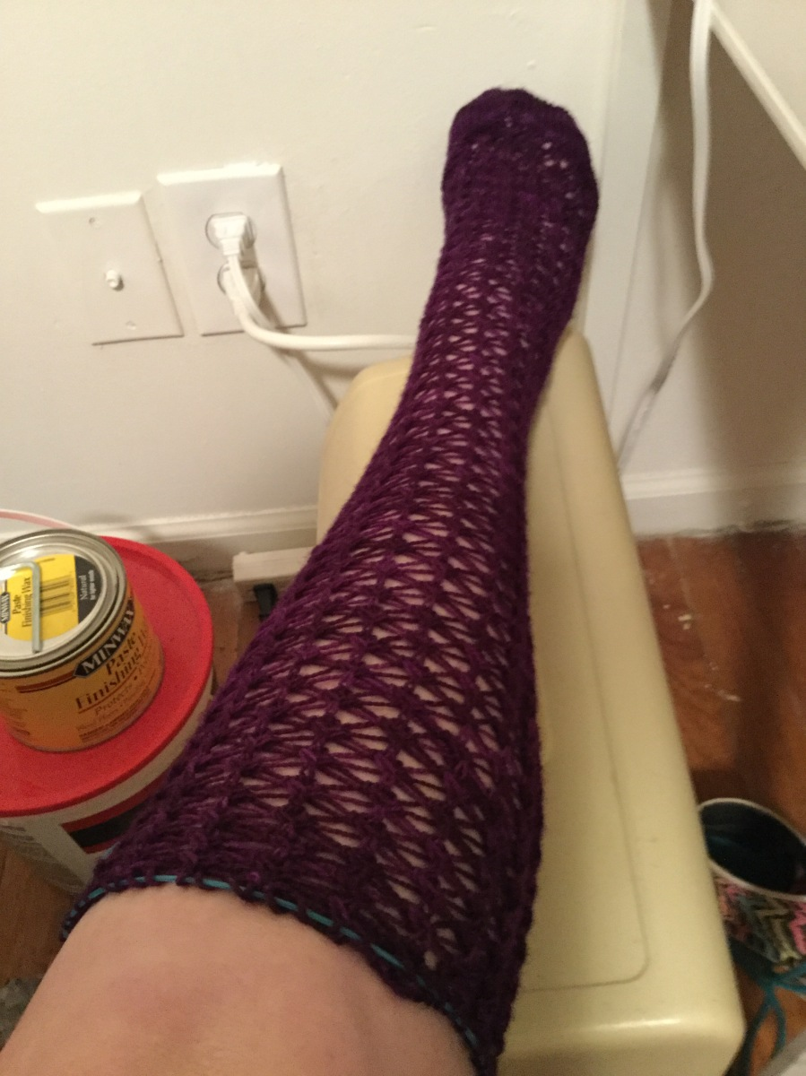 Stockings at knee length