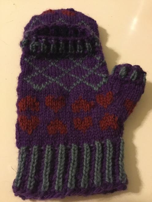 Genderqueer mittens back