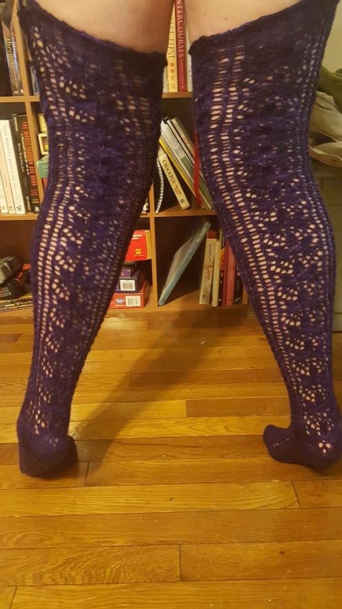 Lace stockings back